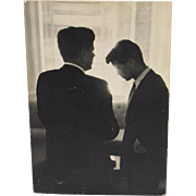 JACQUES LOWE (Listed, Photographer of the Kennedy's), Vintage original Gelatin Silver, JFK & .