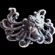 Art Nouveau/Deco Sterling Silver Brooch/Pendant