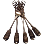 SOLD Shipwreck Salvaged Forks (5) from S.S. Indian as She was Wrecked and Sinking, 1859
