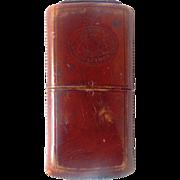 Mason Co Leather Cigarillo or Cigarette Case with Great Patina