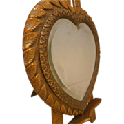 Antique circa 1900 Heart Shaped Dresser Mirror