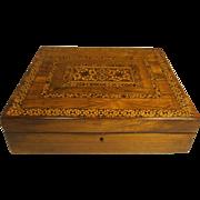 Antique Rosewood Tunbridge Ware Writing Slope Box