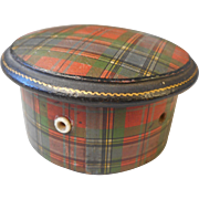 Antique Mauchline Ware , Tartan Ware Thread Box