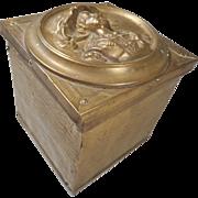 Vintage Brass cased Tea Caddy
