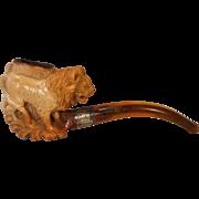Antique Lion Meerschaum Pipe