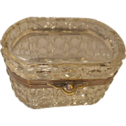 Antique French Glass Box