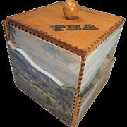Betws-Y-Coed Wales , Welsh Tea Caddy