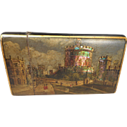 Antique Cigar Case Windsor Castle , Mother of Pearl Abalone inlaid