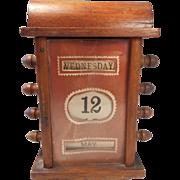 Mahogany Desktop Perpetual Calendar