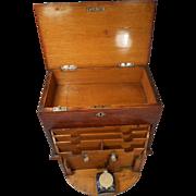 Antique Desktop Oak Stationery Cabinet , Writing Box
