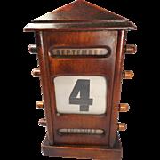 Antique Mahogany Desktop Perpetual Calendar