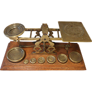Large set of Mordan Brass Postal Scales , Letter Scales