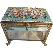 Antique French Micro Mosaic Glass Box , Casket