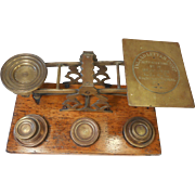 Large set of Antique Mordan Brass Postal Scales , Letter Scales