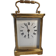 Antique Brass cased 8 day Carriage Clock
