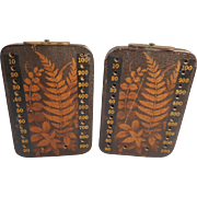 Antique Treen Fern Ware Whist , Bezique , Card Scorers