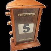Antique Desktop Perpetual Calendar