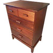 Art Deco Mahogany Miniature Chest of Drawers