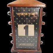 Antique Desktop Mahogany Perpetual calendar