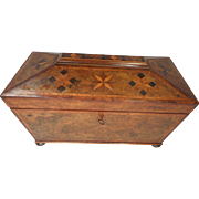 Rare Georgian inlaid Tea Caddy