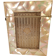 Antique Mother of Pearl & Silver Card Case