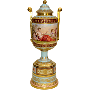 Royal Vienna Covered Urn on Stand c. 1900