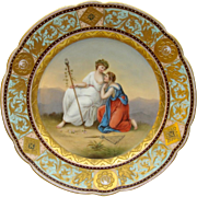 Royal Vienna Style Plate by Royal Rudolstadt - 'Hebe and Tris'