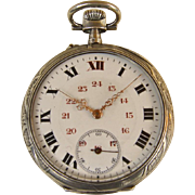 Art Nouveau Silver Pocket Watch c. 1900