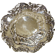 Large and Impressive Art Nouveau Sterling Silver Bowl by Mauser c. 1890's