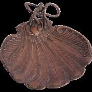 """SALE Art Nouveau """"Feather"""" Serving Tray - Brass 1900's Bowl"""