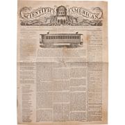 SALE 1845 First Edition Scientific American Newspaper