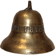 SALE 1814 Original Antique German Bronze Bell - 19th Century Nider Vorschutz Cast Bell