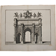 "SALE 18th Century Copper Engraving ""Arch of Septimius Severus"" from L'antiquité exp"