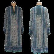 SALE 1970s Vintage Indian Cotton Gauze Dress