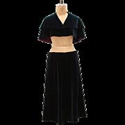 Vintage Velvet Cape and Skirt Set