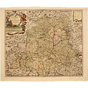 SALE 18th Century Map of Palatinate Region of Bavaria / Germany Ober-Pfalz (Nicolaum Visscher)