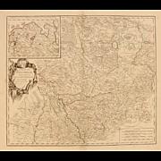 SALE 18th Century Map showing Westphalia in Germany by Robert de Vaugondy 1751