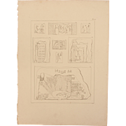 SALE 1802 Original Copper Engraving from Napoleons Travels to Egypt (Vivant Denon) Page 129