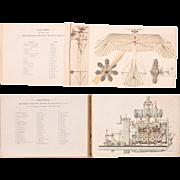"SALE 1914 Model Atlas / Foldout Book about Modern Engine Construction - ""Der moderne Moto"