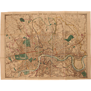 "SALE 19th Century Pocket Map of London ""WYLDS NEW PLAN OF LONDON for 1858"" by ..."