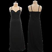 SALE 1970s Vintage Black Maxi Dress
