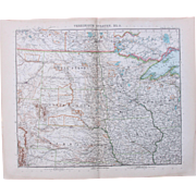 SALE Art Nouveau Map of the North Central USA / Midwest incl. Denver, Winnipeg, Omaha, ...