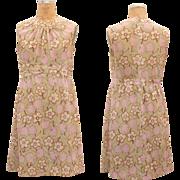 SALE 1960s Vintage Flower Day Dress