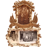 WW1 Memorial Frame with photos circa 1914 - 1916