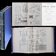"""SALE 1909 Atlas about Construction in Concrete with 67 Construction Plans - """"La Construct"""