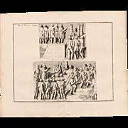 """SALE 18th Century Copper Engraving """"Two Speeches"""" from L'antiquité expliquée et re"""