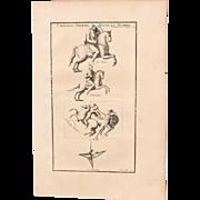 SALE 18th Century Copper Engraving of Ancient Cavalryman from L'antiquité expliquée et ...