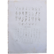 "1802 Original Copper Engraving ""Hieroglyphs & Engravings"" from Napoleons Travels to"