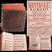 "SALE 1731 Catholic Church Liturgy ""Rituale Romano Pragense"" by Ferdinand Archbishop"