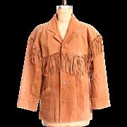 SALE Vintage Brown Suede Leather Minnetonka Fringe Jacket